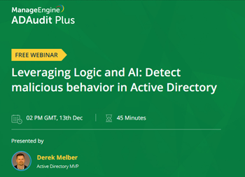 Leveraging Logic and AI: Detect malicious behavior in Active Directory | ManageEngine Active Directory