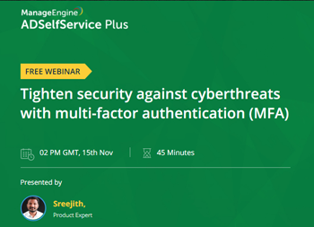 Tighten security against cyberthreats with multi-factor authentication (MFA) | ManageEngine Active Directory