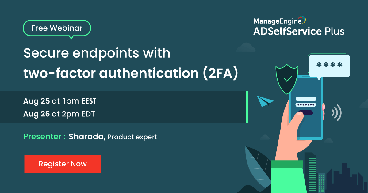 Secure endpoints with two-factor authentication (2FA)-25.08.2020